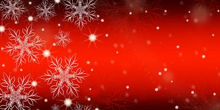 Red gradient background with snowflakes. Red gradient background with snowflakes banner royalty free illustration