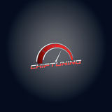 Car chip tuning red color vector logo design Royalty Free Stock Photography
