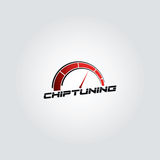 Car chip tuning logo red gradient vector design Royalty Free Stock Photography