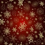 Red gradient Christmas seamless pattern stock images