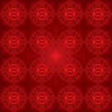Red gradient damask. Seamless pattern. Seamless pattern with lightning effect. Vector wallpaper or background (just 4 objects stock illustration