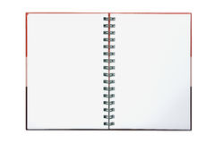 Red gradient note book on white Stock Image