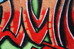 Red graffiti Stock Images