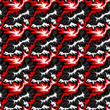 Red graffiti pattern seamless abstract background. (vector eps 10 Stock Image