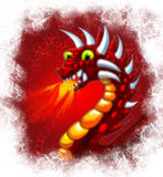 Red gragon with fire. A picture or a head of a red dragon with fire Royalty Free Stock Photo
