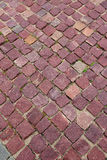 Red granite pavers Stock Photos