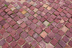 Red granite pavers Royalty Free Stock Photos