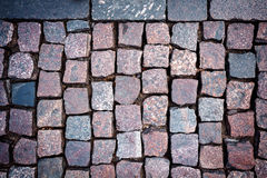 Red granite paving Stock Image