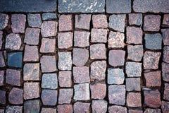 Red granite paving Stock Image