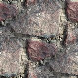 Red granite seamless texture to the edges of Royalty Free Stock Image