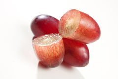 Red Grape. Cut close up Stock Photography