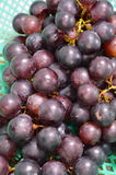 Red grape in basket Stock Photo