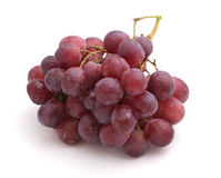 Red grape bunch. Isolated on white background Stock Photos