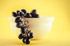 Red Grape with a cup on studio  Stock Image