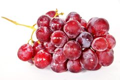 Red grape freshly eaten royalty free stock photos