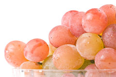 Red grape fruit in glass bowl. Stock Photography