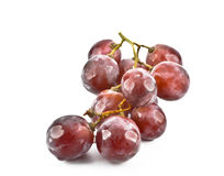 Red grape fruits. On white background Royalty Free Stock Photos