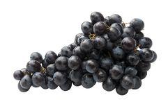 Red grape fully isolated. Fresh red grape fully isolated on the white Royalty Free Stock Image