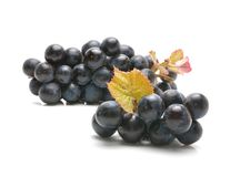 Red grape with green leaf Stock Image