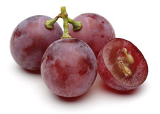 Red grape. Isolated on white background Stock Photography