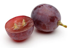 Red grape. Isolated on white background Royalty Free Stock Photography
