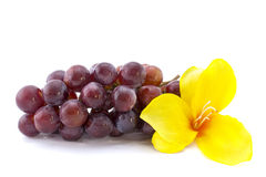 Red grape isolated on white background with a yell Stock Image