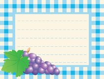 Red Grape On Chequered Background Stock Photos