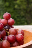 Red grape. Photo of the fresh red grape closeup Stock Photography