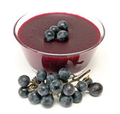 Red grape pudding. With red grapes image royalty free stock photography