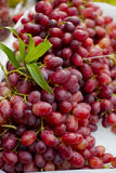 Red grape. On sale in the market Stock Photography