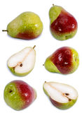 Red Grape and slice in half on white backgroundpear isolated on white background,pear isolated on white collection. Photo of pear isolated on white background Stock Image