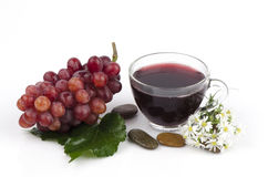 Red Grape (Vitis vinifera L.) Royalty Free Stock Images