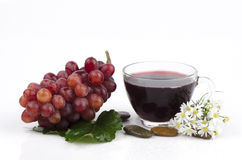 Red Grape (Vitis vinifera L.) Royalty Free Stock Photos