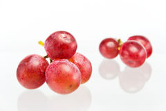Red grape. On white background Stock Image
