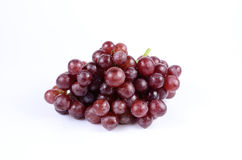 Red grape. On white background royalty free stock photo