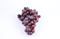 Red grape. On white background royalty free stock image