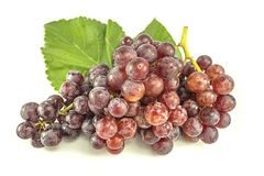 Red grape in white background stock photo