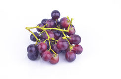 Red grape on white blackground Royalty Free Stock Photography