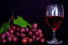 Red grape wine Stock Photo
