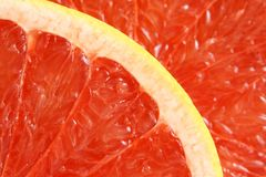 Red grapefruit. For backgrounds or textures Stock Images