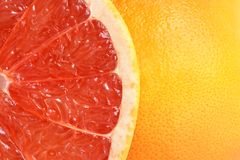 Red grapefruit. For backgrounds or textures Stock Photos