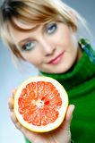 Red grapefruit Stock Photos