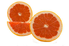 Red grapefruit. Juicy and bright grapefruit isolated on the white Stock Photography