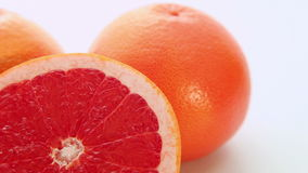Red grapefruit fruits stock footage