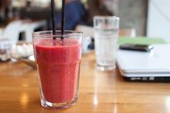 Red grapefruit juice Stock Image