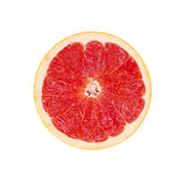 Red Grapefruit Portion. Isolated  On White Stock Image
