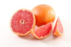 Red grapefruit. On white background Royalty Free Stock Photos
