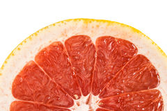 Red grapefruit slice. Royalty Free Stock Photos