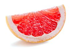 Red grapefruit slice Stock Photos