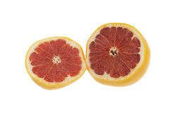 Red grapefruit sliced Royalty Free Stock Image